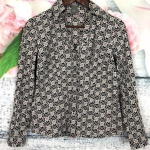 NWOT! Ann Taylor Black & White Blouse Shirt
